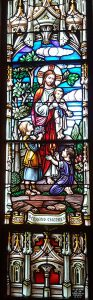 Vitral of our Lord with Children