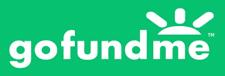GoFundMe logo. Click here to donate